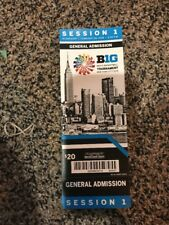 2018 BIG TEN TOURNAMENT TICKET STUB SESSION 1 BASKETBALL MSG NEW YORK