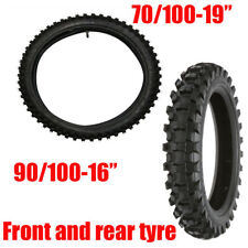 Tyre Tire And Tube Front 70/100-19 Rear 90/100-16 For Dirt Bike CRF50 YZ85 klx