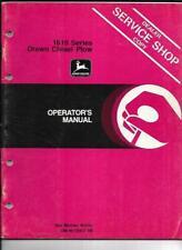 John Deere 1610 Series Drawn Chisel Plow Operators Manual Om N159457