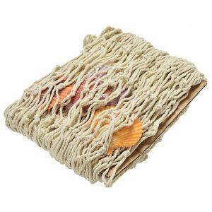 Fish Netting Decoration Nautical Decorative Fish Net Sea Shells Seaside WallY*ss