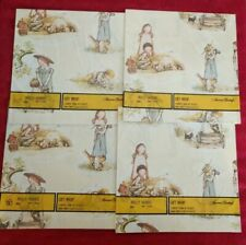 Holly Hobbie Gift Wrap 1970s American Greetings 4 New Packages
