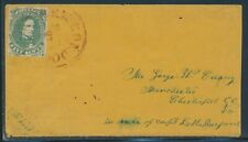 CSA #1 ON COVER RED TOWN CANCEL MILITARY USAGE TO VIRGINIA BV2159