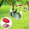 Outdoor Camping Colorful Long Lanyard Clothesline Tent Decoration Lights Lanyard