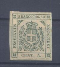 MODENA - 1859 GOVERNO PROVVISORIO - 5cent. verde nuovo*