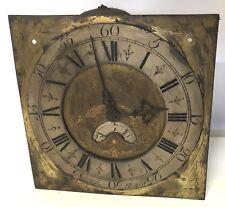Early Laiton Cadran et mouvement de comtoise Grand-père Horloge John Roberts 30hr