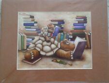 JOEY WELSH GEKKARDS ART Serigraph on Canvas~Turtles~Brand New *Brilliant Colors*
