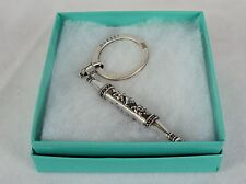 Stainless Steel Key Ring ~  GUESS Designer, Decorative Baton Shape NEW 5230240