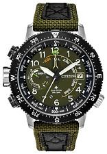 Citizen PROMASTER ALTICHRON Stainless Steel Green Dial Men's Watch BN5050-09X