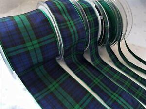 Berisfords BLACKWATCH Tartan ribbon Scottish Approved design- 7 10 16 25 40 70mm