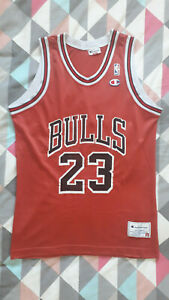 Michael Jordan 23 Chicago Bulls NBA basketball jersey Champion Europe size L 44