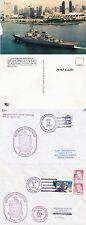 Guided Missile Destroyer USS John Paul Jones DDG 53 2 couvre & une carte postale