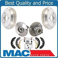 for 08-15 Smart Car Fortwo Rear Brake Drums & Rear Brake Shoes Hub Bearings 6pc