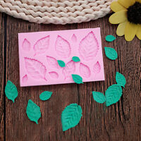 Leaves Silicone Mold Candy Polymer Clay Fondant Leaf Mold Sugarcraft Cake Deco