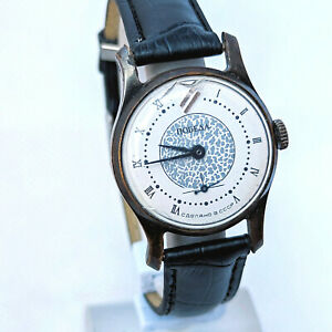 Watch Pobeda Vintage Ussr Soviet Mechanical Rare Russian Wrist Men Serviced Old