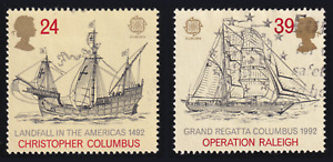 1992 Great Britain Ship Set of 2 USED #