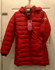 Women's Canada Goose Camp Hooded Jacket - Red - Medium