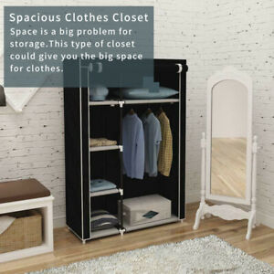 Canvas Material Wardrobe Storage Large Fabric Portable Dust Proof Cover