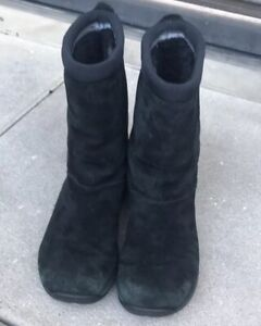 Merrell Womens Primo Chill Massif Black Winter Boots Faux Fur Lined Sz 6 Leather