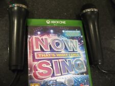 XBOX ONE now THAT'S WHAT I CALL MUSIC Sing + 2 Microphones Mics - KARAOKE / SING