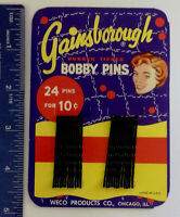 Gainsborough Bobby Pins - Vintage 1950's on Original Card