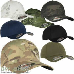 YUPOONG FLEXFIT CAP MULTICAM WOOLY COMBED US ARMY MÜTZE BASEBALL TARN CAMO KAPPE