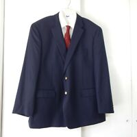 RALPH LAUREN jacket blazer sport coat gold button 100% wool 100% wool 50R