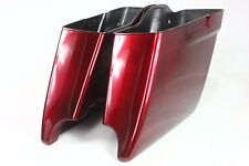 "Velocity red sunglo 4.5"" extended ABS Saddlebag bottom bags for harley 2014-2017"