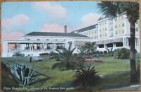 Palm Beach, FL 1910 Postcard: The Breakers Hotel from Garden - Florida Fla