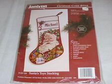 NEW Janlynn Christmas Cross Stitch Kit  Santa's Toys Stocking 125-129 Sealed
