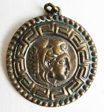 Pendentif en bronze laiton motif Grèce antique mythologie Greece