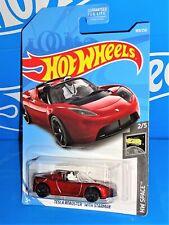 Hot Wheels 2019 HW Space Series #109 Tesla Roadster With Starman Dark Red