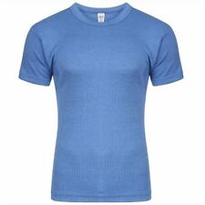 NEW THERMAL BLUE T-SHIRT LARGE WINTER COLD MORNING WARM HOT UNDERWEAR TOP HOME