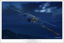 "AC-119K Stinger Aviation Art Print by Mark Karvon, Size 16"" x 24"""