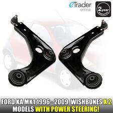 FORD KA WISHBONE FRONT PAIR SUSPENSION ARMS WISHBONES L&R NS OS MK1 96-09 2YR GT