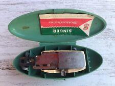 VINTAGE 1960's Singer Button Holer -- Instructions, Green Case included!
