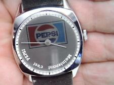 RARE VINTAGE LAFAYETTE MECHANICAL MYSTERY DIAL PEPSI COLA WATCH DARKENING DIAL