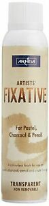 Camel 200 ML Artists Fixative Spray In Tin Bottle For Pastel,Charcoal And Pencil