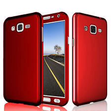 For Samsung Galaxy J3 Emerge J327 360 Full Protective Hard Case + Glass Screen