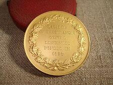 Médaille ancienne en ARGENT Doré L'UNION Assurance Incendie  Bel Ecrin