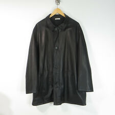 Ermenegildo Zegna Italy Leather brown Reversible jacket coat 42 US