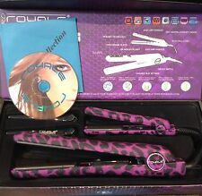 Royale Metro Set- Purple Leopard 100%Ceramic Hair Straightener+Mini Flat Iron