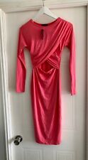 BNWT River Island Pink Bodycon Dress Size 10