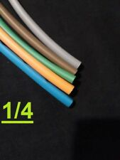 """1/4"""" inch 6.3mm TELCO GROUP 2   heat shrink tubing 2:1  polyolefin (5 FOOT)"""