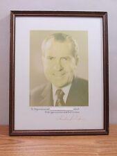 Richard Nixon Photo Autograph Signature
