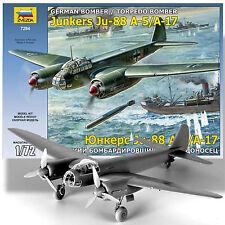 ZVEZDA 1/72 JUNKERS JU-88 A-5 BOMBER OR A-17 GERMAN TORPEDO BOMBER VARIANT KIT