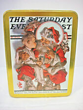 Saturday Evening Post Case Stationery 1994 Christmas tin