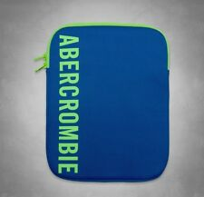 NEW Authentic  ABERCROMBIE & FITCH TABLET CASE IPAD  ZIP CASE BLUE