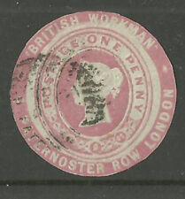 1d Rosa British Workman Pubblicità Anello tagliato TAGLIO ROUND ar20 USATO