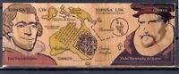 SPAIN 2017 Discoverers of Oceania Unique Unusual Special Wood stamp Map 2v