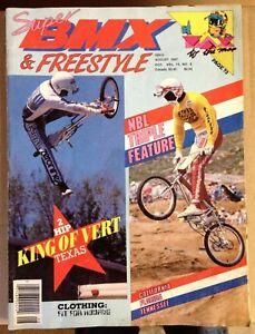 Vintage Original SUPER BMX & FREESTYLE Magazine August 1987 Old School bmx GT